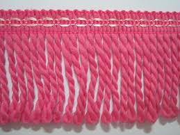 5 yards pink bullion fringe bullion trim twisted drapery