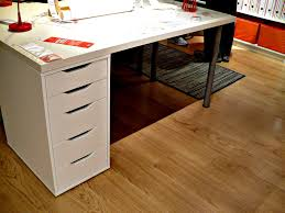 Ikea Uk Laminate Flooring White Wooden Ikea Table Tops With White Wooden Drawer And Black