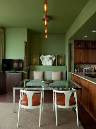 green midcentury modern living space photos hgtv casual dining