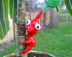 pikmin themed garden ornaments cake topperset of three
