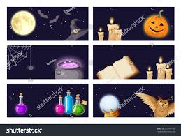 Halloween Banners by Vector Halloween Banners Magic Symbols Book Stock Vector 503243743