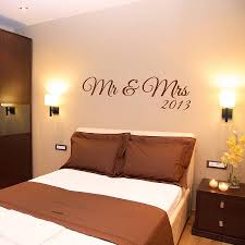 Bedroom Wall Decals Uk Mr And Mrs Wall Sticker By Wall Art Quotes U0026 Designs By Gemma