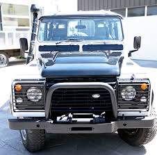 land rover defender 110 with a nice restoration diesel manual