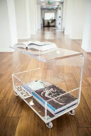 Plexiglass Coffee Table Clear Waterfall Modern Contemporary Plexiglass Coffee Table