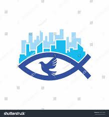church logo christian symbols jesus fish stock vector 393571882