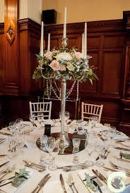 wedding flowers manchester candelabra centrepiece at the midland hotel manchester vintage