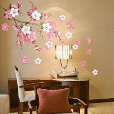 aliexpress com buy sakura flower bedroom room vinyl decal art aliexpress com buy sakura flower bedroom room vinyl decal art diy home decor wall sticker removable stickers transparent poster wallpaper from reliable