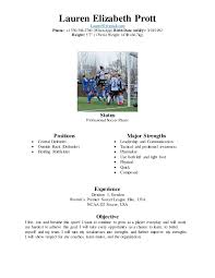 Soccer Resume Samples by Professional Soccer Player Resume Coaching Portfolio Lacrosse