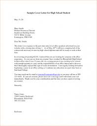 sample cover letter for high student best photos of sample