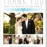 modern photo thank you cards wedding collage