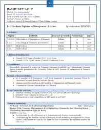 sle resume format for freshers pdf creator sle of a beautiful resume format of mba fresher resume formats