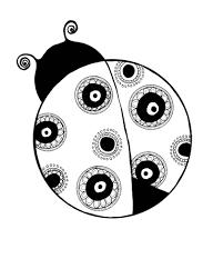 ladybug drawing black and white ladybug coloring pages printable
