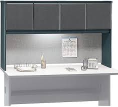 60 desk with hutch bush wc84861 advantage slate 60 inch hutch add convenient overhead