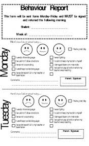 student daily report template this form is used in a kindergarten classroom to notify parents of