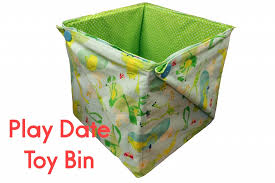free pattern play date toy bin dear stella design
