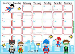 printable calendar 2016 etsy june 2016 calendar