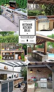 outdoor kitchen idea best 25 small outdoor kitchens ideas on outdoor grill