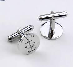 personalized wedding cufflinks personalized wedding date cufflinks anchor symbol cufflinks date