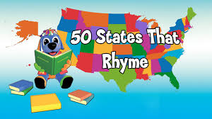 Map Of The 50 United States by 50 States That Rhyme Song Fun Learning Video U0026 Sing Along