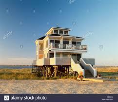 raised beach house stock photos raised beach house stock images usa new york long island beach house jones beach stock image