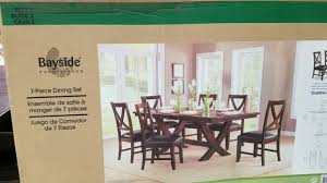 costco dining room furniture costco 7 piece dinning set 499 youtube