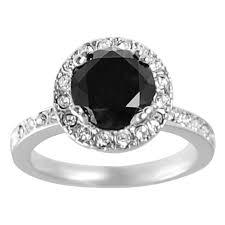 black cubic zirconia engagement rings journee collection rhodium plated black cubic zirconia ring free