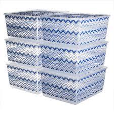 kis urbin large plastic storage bins with lids home organization