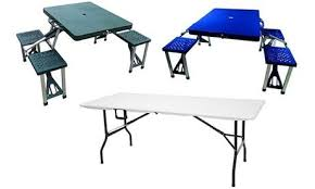 grosfillex sigma collapsible folding table fold up cing table and chairs stuffwecollect com maison fr