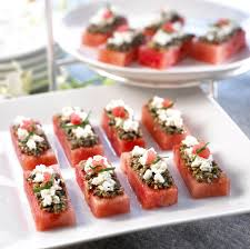 canapes recipes watermelon board watermelon canapes