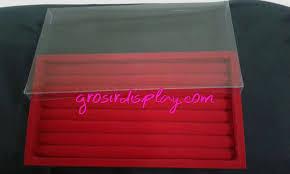 box cincin rak display kotak cincin box bludru 15x28cm tutup grosir barang