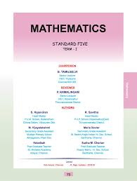 grade standard class 05 english medium mathematics text book