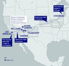 Amtrak Train Routes Map by Southwest Chief Amtrak Vacations