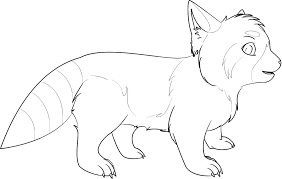 red panda coloring pages funycoloring