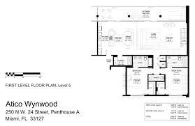 level floor floor plans atico wynwood