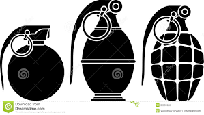stencils of grenades royalty free stock photos image 30935928