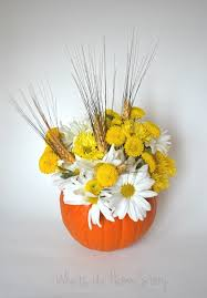 pumpkin floral centerpiece whats ur home story