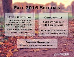 fall 2016 specials bunker hill dentistry