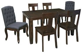 Rectangular Dining Room Table by 7 Piece Rectangular Dining Table Set With Upholstered Chairs