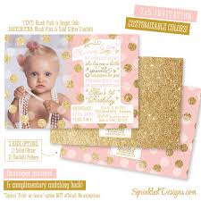 she leaves a little sparkle invitation first birthday