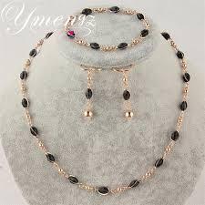 gold black bead necklace images Ymengz gold color jewelry sets zinc alloy 7color bead necklace jpg