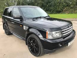 all black range rover great value 2007 range rover sport 3 6 hse auto upgraded black