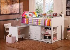 Kids Corner Desk White Charleston Storage Loft Bed With Desk White U2014 Modern Storage Twin