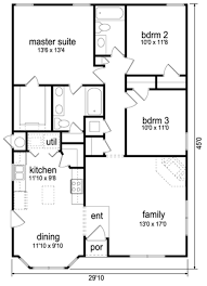 traditional floor plan traditional style house plan 3 beds 2 00 baths 1289 sq ft plan
