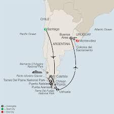 Patagonia Map Patagonia U0026 Uruguay Tours Globus Travel