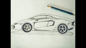 lamborghini huracan sketch how to draw lamborghini car sketch tutorial in simple easy step by