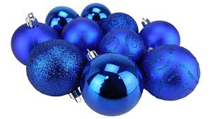 Royal Blue Christmas Tree Decorations by Christmas Concepts Pack Of 10 60mm Christmas Tree Baubles