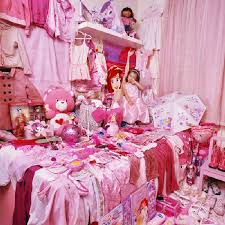 All Pink Bedroom - stunning pink and blue bedroom for kids and boy obsession