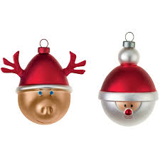 babbarenna e babbonatale tree ornaments set of 2 by alessi