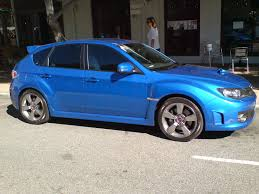 blue subaru wrx subaru wrx sti hatch in wr blue mica 2 madwhips