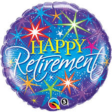 helium balloon delivery sparkling happy retirement helium balloon delivery retirement